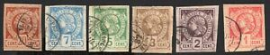 Haiti 1881 set of stamps Official Mi#1-6 used CV=48€