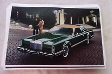 1977 LINCOLN MARK V  GREEN AN TAN  11 X 17  PHOTO  PICTURE