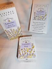 Crabtree & Evelyn Lavender Set - Soap, Hand Therapy, Bath & Shower Gel NIB