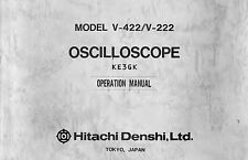 Hitachi V-422 V-222 Oscilloscope Service & Operation Manual * CDROM * PDF