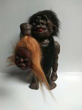 "Vintage Figure Bobblehead Nodders Caveman Troll With Woman Head Heico 10"""