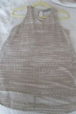 Kenar Ladies Sleeveless Beige and White Linen Knit Tank Top Size M
