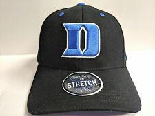 sale retailer d1457 4c8b4 Duke Blue Devils Cap Zephyr Black Stretch Fit Fitted ZH Hat