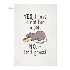sí I have a Rat para un Mascota NO IT ISN' t Bruto Paño Cocina Plato - Divertido