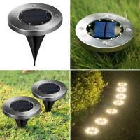 8LED Solar Power Ground Lights Floor Decking Outdoor Garden Lawn Path Way Lamp