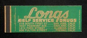 1940s Full Length Longs Self Service Drugs Oakland Alameda Fresno San Jose CA MB