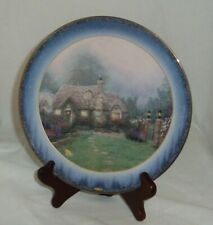 Evening at Merritt's Cottage Thomas Kinkade Bradford Exchange Lenox plate 4364
