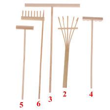 Mini Bamboo Rake for Zen Garden Sand Tabletop Meditation Feng Shui Decor US