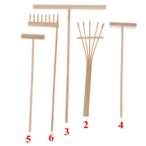 5Pcs Mini Bamboo Rake for Zen Garden Sand Tabletop Meditation Feng Shui DeA8A