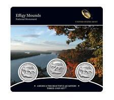 Effigy Mounds National Monument 2017 Quarter, 3-Coin Set