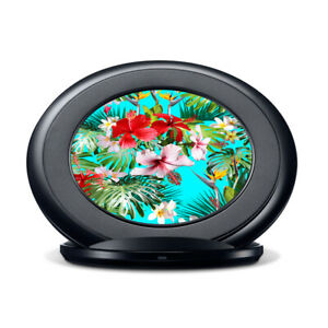 Vinyl Decal Skin for Samsung Fast Charge - Tropical Red Hibiscus