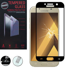 "Film Verre Trempe Protecteur Protection NOIR Samsung Galaxy A5 (2017) 5.2"" A520F"