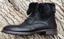 Ladies Sebago Laney Black Leather & Suede Lace Up Boots