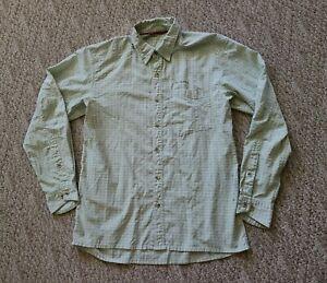 EUC Simms Men's Long Sleeve Fly Fishing Shirt Color Green Check Size Medium M