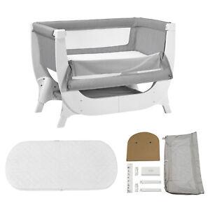 Shnuggle Air Bedside Baby Crib with Conversion Kit and Mattress