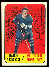 1967 68 TOPPS HOCKEY #81 MARCEL PRONOVOST EX+ TORONTO MAPLE LEAFS CARD