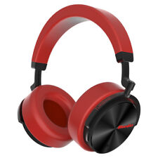 Bluedio T5 Wireless Bluetooth 4.2 Headphones ANC Bass Mic Stereo Headsets Red
