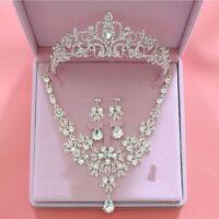 Fashion Crystal Rhinestone Wedding Bridal Elegant Jewelry Sets Pageant Prom Gift