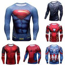 Maglia uomo t-shirt maglietta fitness sport bodybuilding  superman spiderman