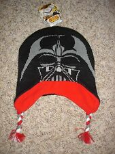 NWT Star Wars youth boys ONE SIZE knit hat fleece lined cap Darth Vader braids