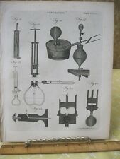 Vintage Print,PNEUMATICS,Encyclopedia Britanica,1797-1820,Pl 403