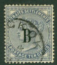 SG 7 British post office in Siam (Bangkok) 1882 10 Cent Slate Wmk CC. Very.....