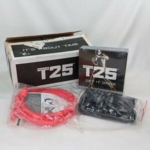 NEW Beachbody T25 Focus Get It Done Alpha Beta DVD Disc Set Resistance Bands