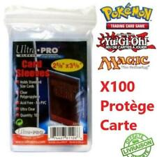 100 Protèges Cartes Pochettes Transparent Ultra PRO Sleeves Pokémon Magic Yu Gi