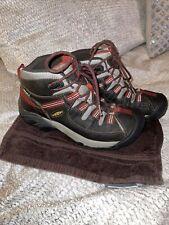 keen targhee ii gray Red women's mid hiker size 8 EUC