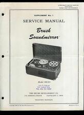 Brush Soundmirror BK403 Reel To Reel Tape Deck Original Factory Service Manual