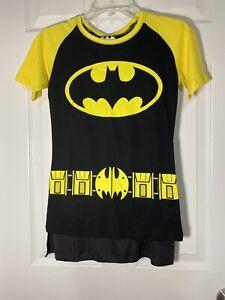 NWOT! Batman Costume Shirt With Detachable Cape Size Small Womens