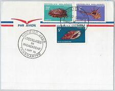 63075 -  MADAGASCAR - POSTAL HISTORY - FDC COVER - 1970  SHELLS