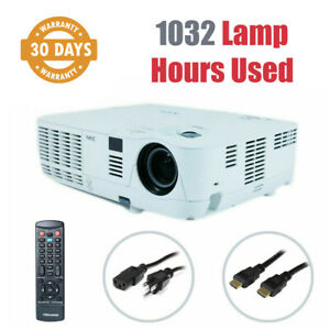 NEC V260X DLP Projector 2600 Lumens NP-V260X 1080i 3D - 1032 Lamp Hours Used