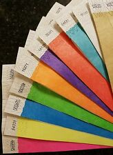 """100,000 3/4"""" (10,000 each of 10 colors)  TYVEK WRISTBANDS, EVENT WRISTBANDS"""