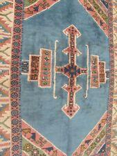 A WONDERFUL OLD HANDMADE KARZ TURKISH ORIENTAL WOOL ON WOOL RUG (230X170 cm)