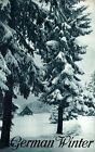 """Vintage Illustrated Travel Poster CANVAS PRINT Germany Winter Pines 8""""X 12"""""""