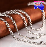 18-40 inches Mens Womens 2.5mm Stainless Steel  Silver Smooth Box Chain Necklace