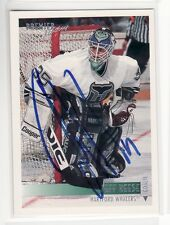 JEFF REESE HARTFORD WHALERS   AUTOGRAPHED HOCKEY CARD