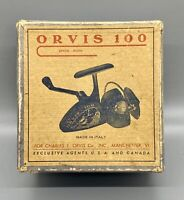 Vintage ORVIS 100 Fishing Reel With Box and Instructions