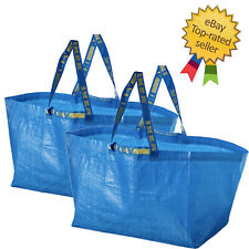 2x IKEA Bag, Blue, Large Size Shopping Laundry Grocery Bag