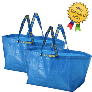 2x IKEA Bag, Blue, Large Size Shopping Laundry Grocery Bag