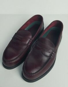 Red Wing Mens Steel Toe Penny Loafers Leather Burgandy Size 10B