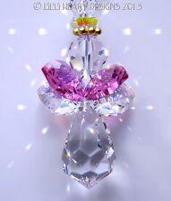m/w Swarovski Crystal AB + Pink Sweet Heart Angel Suncatcher Lilli Heart Designs
