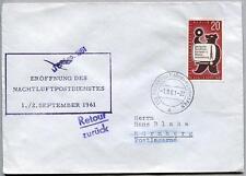 FFC 1961 Lufthansa PRIMO VOLO - Francoforte Norimberga