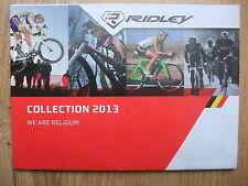 BRAND NEW ~ RIDLEY 2013 ~ ROAD TRIATHLON TT & MOUNTAIN BIKE FOLD OUT CATALOGUE