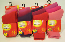 43B285 - Girls Thermal Socks By Red Tag - 3 Pack - 1.20 Tog - Sizes and Colours