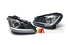 Projector LED DRL Headlight C63 Style Look Black for Mercedes W204 Facelift LHD