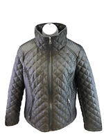 Marc New York Women's Gray Quilted Insulated Full Zip Jacket Sz M