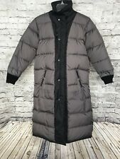 Lands End Women's Goose Down Insulated Puffer Lined Long Coat Black Sz 6-8 Small