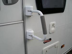 Milenco Caravan Motorhome Security Door Sturdy Hand Rail Handle Twin Lock 5258